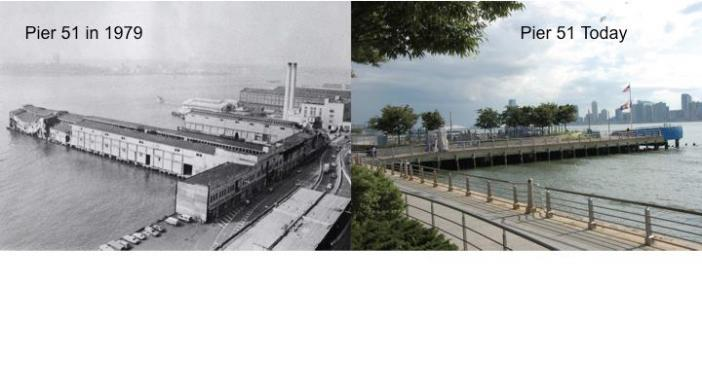 Pier 25 - then and now.